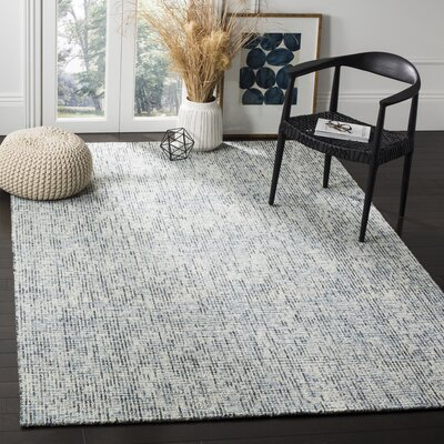 Cary Hand-Tufted Charcoal Area Rug Rug Size: 6 x 9