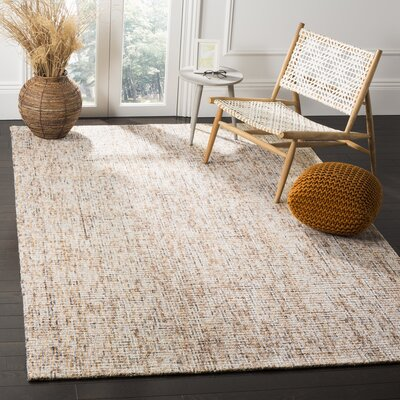 Madrona Hand-Tufted Beige Area Rug Rug Size: 6 x 9