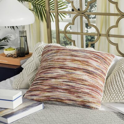 Xander Tight Weave Throw Pillow Color: Rainbow Red