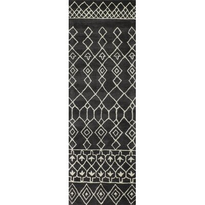 Jennica Midnight Charcoal Rug Rug Size: Runner 26 x 8