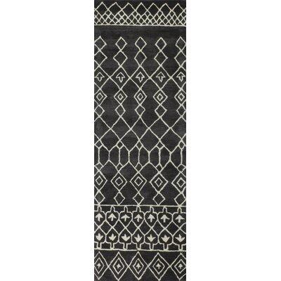 Laflin Charcoal Rug Rug Size: Runner 26 x 8