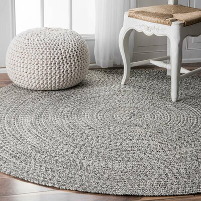 Kulpmont Gray Indoor/Outdoor Area Rug Rug Size: Round 6
