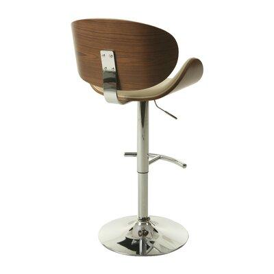 Syracuse Adjustable Height Swivel Bar Stool Upholstery: Ivory