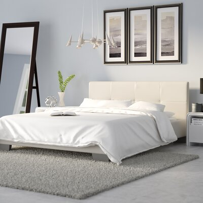 Ayana Upholstered Platform Bed Size: Queen, Color: White