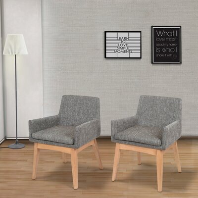 Perla Mid-century Arm Chair Upholstery: Gray
