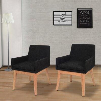 Perla Mid-century Arm Chair Upholstery: Liquorice
