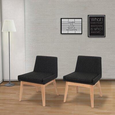 Perla Mid-century Side Chair Upholstery: Liquorice