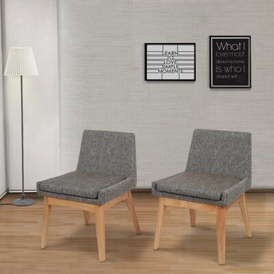 Perla Mid-century Side Chair Upholstery: Gray