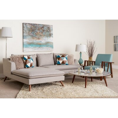 Oxnard 4 Piece Living Room Set Upholstery: Topaz
