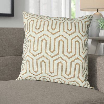 Addington Point Lumbar Pillow Color: Seafoam / Chocolate