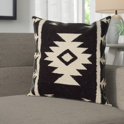 Carisa Pillow Cover Color: Black
