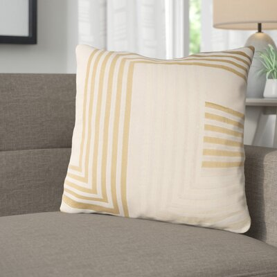 Sandrine Cotton Throw Pillow Size: 20 H x 20 W x 4 D, Color: Beige / Tan
