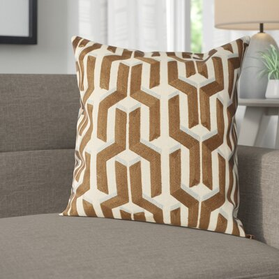 Chalfont Cotton Throw Pillow Color: Khaki