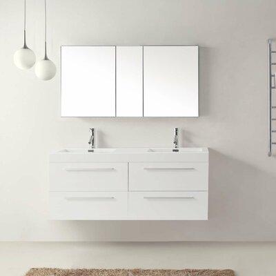Cartagena 54 Double Bathroom Vanity Set with White Top