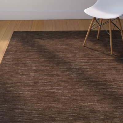 Toby Chocolate Area Rug Rug Size: Rectangle 8 x 10