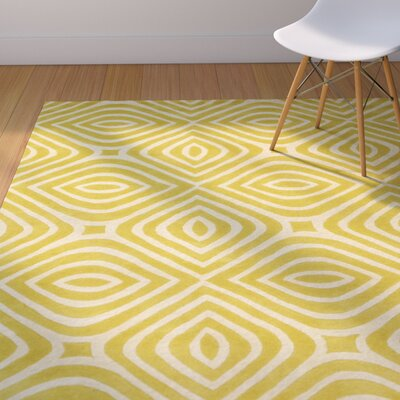 Marley Hand-Tufted Yellow Area Rug Rug Size: Rectangle 79 x 99