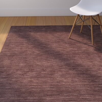 Toby Plum Area Rug Rug Size: Rectangle 36 x 56