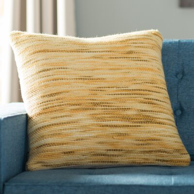 Xander Tight Weave Throw Pillow Color: Mustard