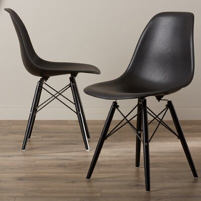 Lemoyne Side Chair Upholstery: Black