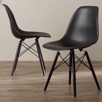 Lemoyne Side Chair Upholstery: Black