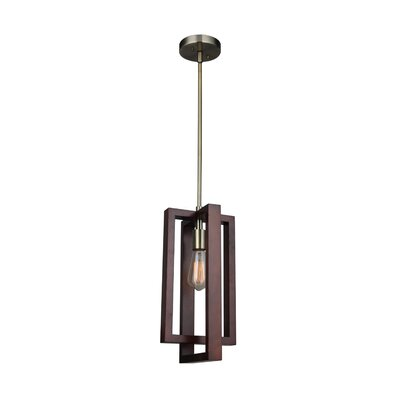 Erick 1-Light Mini Pendant Finish: Brass