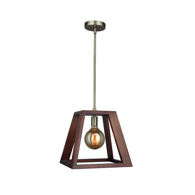 Cedric 1-Light Mini Pendant Finish: Brass