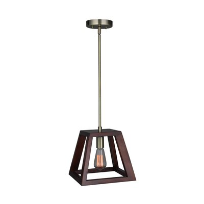 Cedric Modern 1-Light Mini Pendant Finish: Brass