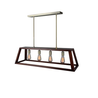 Cedric 4-Light Kitchen Island Pendant Finish: Brass