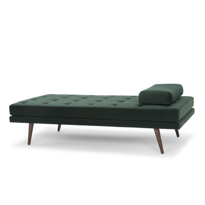 Hambleton Chaise Lounge Upholstery: Dark Green Velour