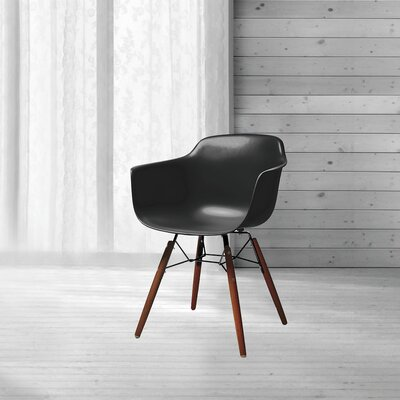 Lorenzo Mid Century Dining Chair Color: Black