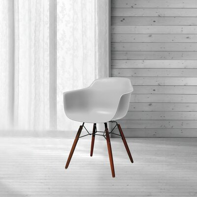 Lorenzo Mid Century Dining Chair Color: Platinum