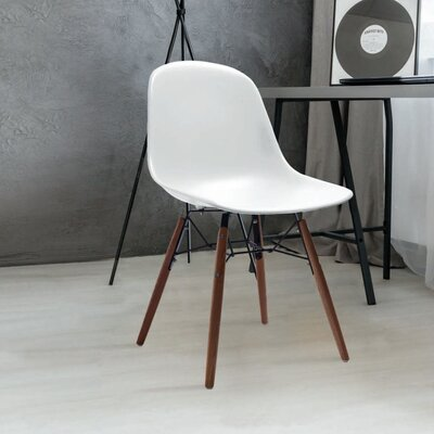 Lorenzo Dining Chair Color: White