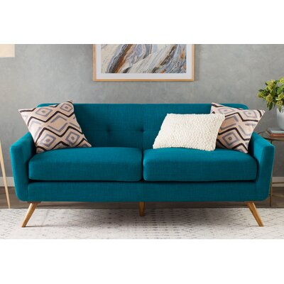 Fresco Tufted Sofa Upholstery: Blue