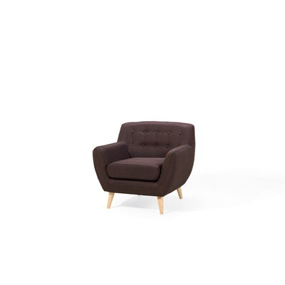 Poppy Armchair Upholstery: Chocolate