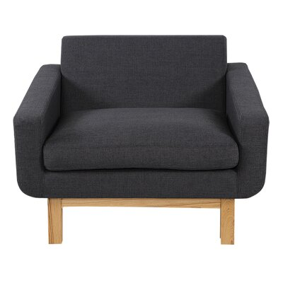 Stuart Mid-Century Cushion Armchair Upholstery: Urban Ink