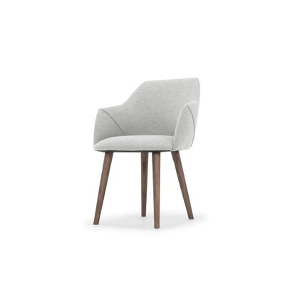 Gerald Upholstered Dining Chair Upholstery Color: Light Gray
