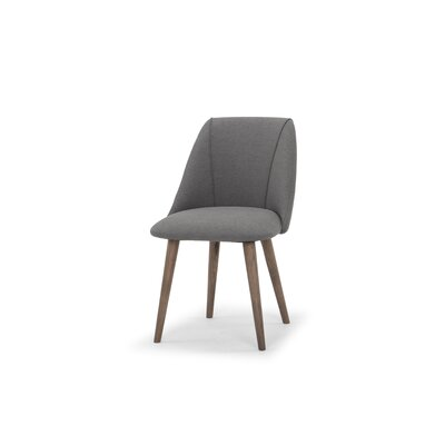 Javier Upholstered Dining Chair Upholstery Color: Dark Gray