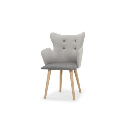 Bruce Upholstered Dining Chair Upholstery Color: Stone Gray