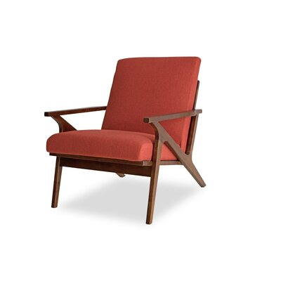 Joe Lounge Chair Upholstery: Red Orange