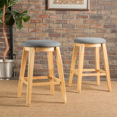 Cromwell 26 Bar Stool Upholstery: Charcoal