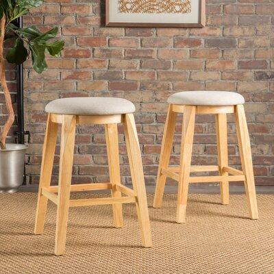 Baltwood 26 Bar Stool Upholstery: Cream