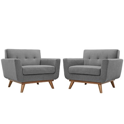 Saginaw Chair and a Half Upholstery: Gray