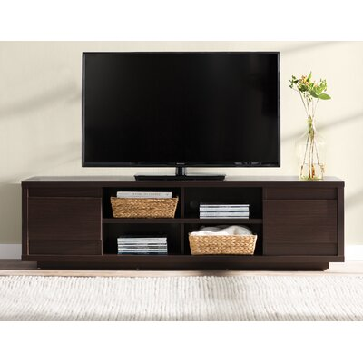 Leetsdale 71 TV Stand Color: Walnut