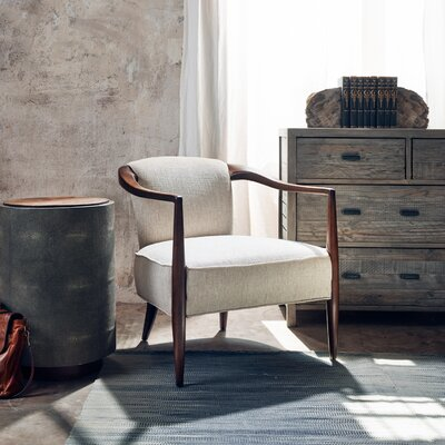 Miramonte Barrel Chair Upholstery: Beige, Finish: Dark Brown