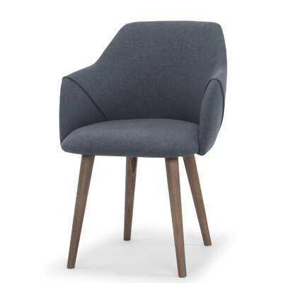 Gerald Upholstered Dining Chair Upholstery Color: Navy Blue