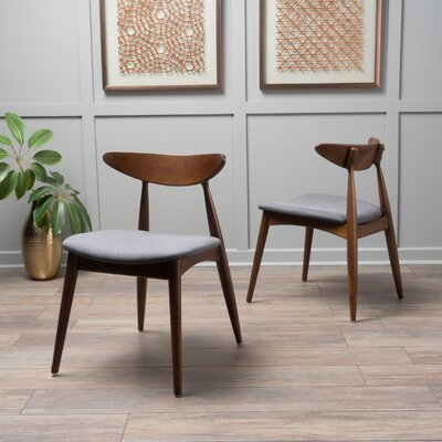 Drumnadrough Side Chair (Set of 2) Upholstery: Charcoal