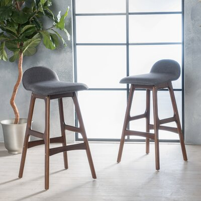 Holden 28.5 Bar Stool Upholstery: Charcoal