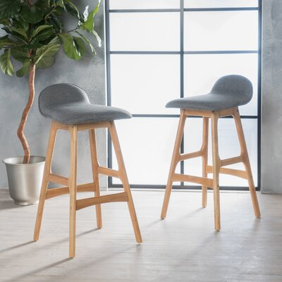 Holden 28.5 Bar Stool Upholstery: Light Gray