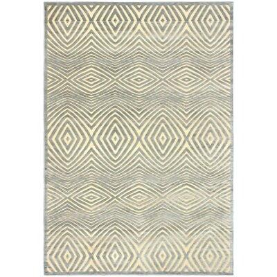 Mauree Cream/Light Gray Open Field Rug Rug Size: 53 x 76