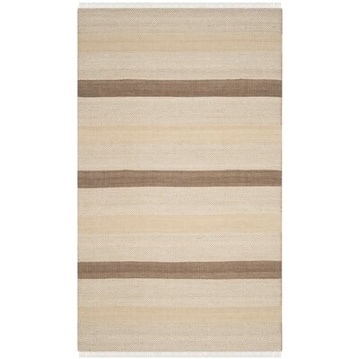 Renfrew Hand-Woven Beige Area Rug Rug Size: Rectangle 5 x 8